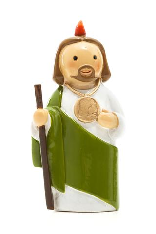St. Jude statue- All Saints Day resources for kids