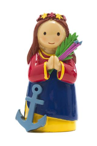 Saint Philomena statue- All Saints Day resources for kids