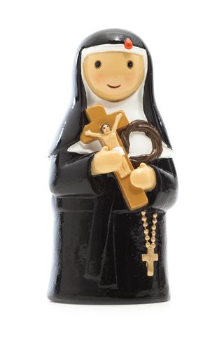 Saint Rita statue- All Saints Day resources for kids