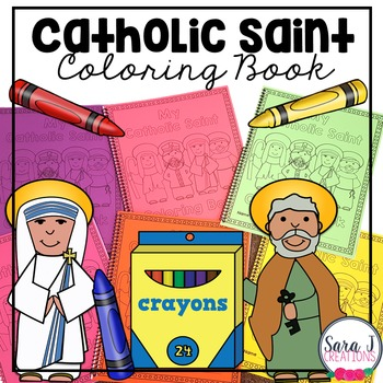 Catholic Saint Coloring Book- All Saints Day resources for kids