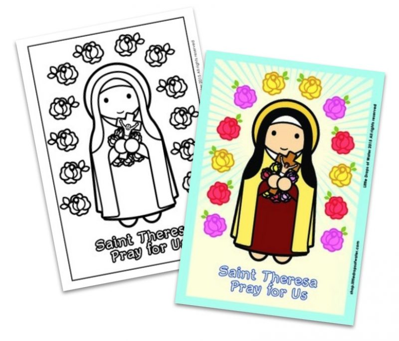 St. Theresa coloring pages - All Saints Day resources for kids