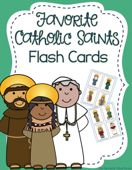 Favorite Catholic Saints flash cards- All Saints Day resources for kids