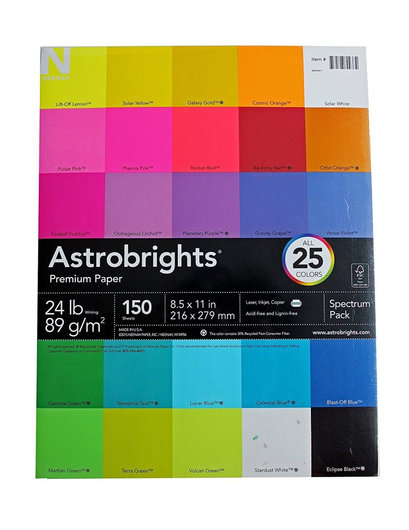 All 25 colors of Astrobrights paper in one pack!