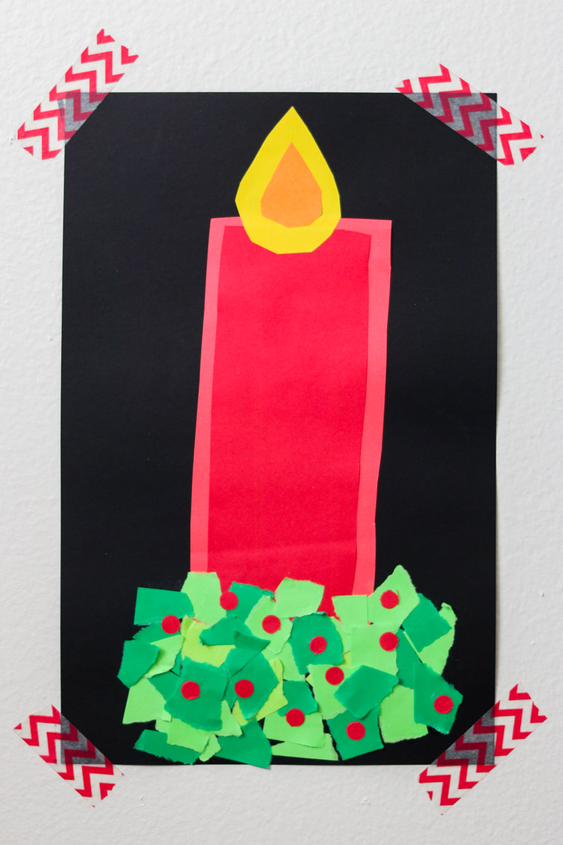 Christmas candle craft from Kinder Craze and Astrobrights!