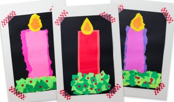 Easy Christmas Candle Craft for Kids</br>(Great for Advent Too!)