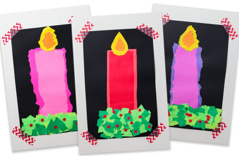 Christmas Candle Craft From Kinder Craze And Astrobrights