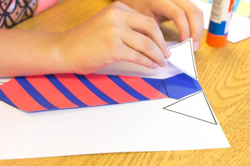 super easy and adorable Father's Day craft - write a personal message on a necktie! Use Astrobrights paper to give it an extra POP of color | Kinder Craze teaching blog