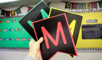 Quick and Easy Bulletin Boards</br>with Free Pennant Letters