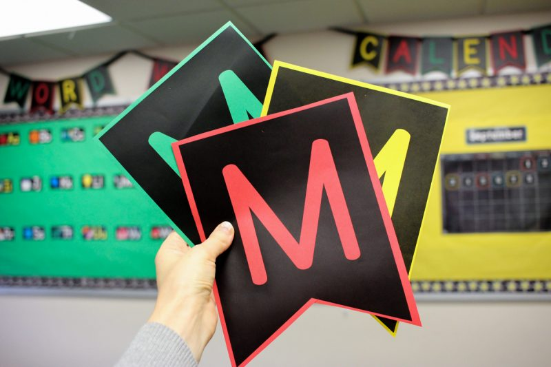 FREE Pennant Letter Banners for the classroom | Kinder Craze kindergarten teaching blog