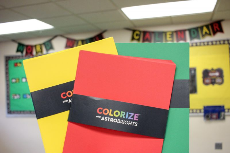Astrobrights Papers in the Classroom | Kinder Craze kindergarten teaching blog