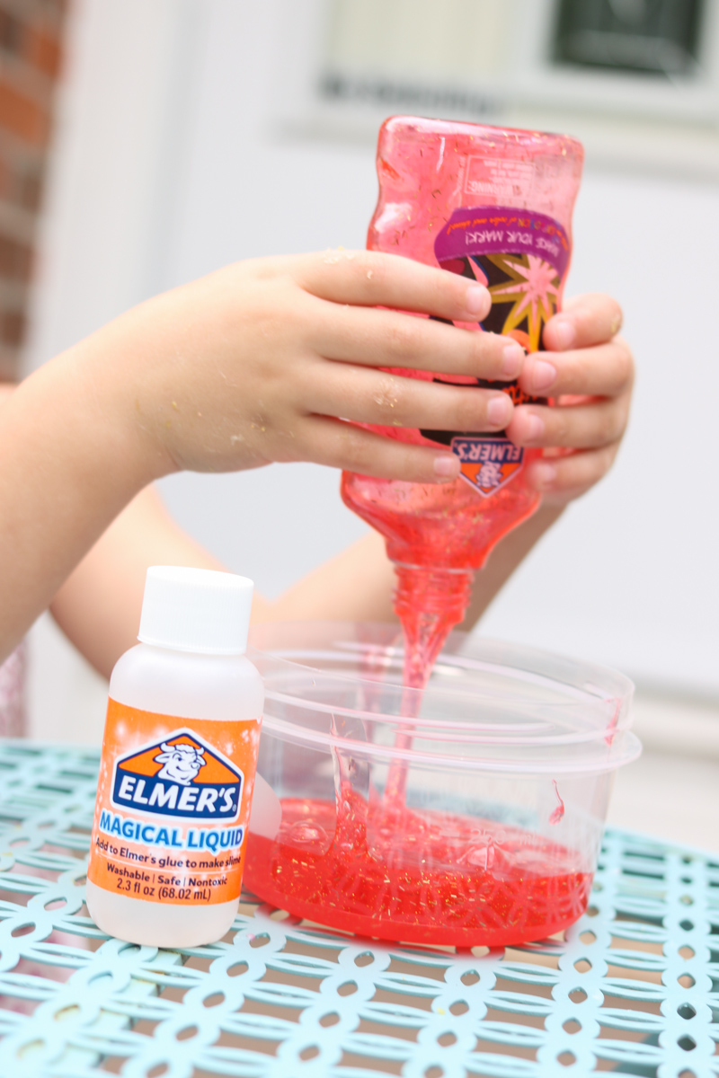 Quick and Easy Rainbow Slime with Elmer's Rainbow Slime Starter Pack | Kinder Craze blog