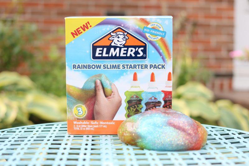 Quick and Easy Rainbow Slime - Elmer's Rainbow Slime Starter Pack | Kinder Craze blog