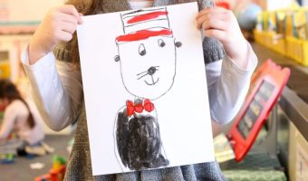 Easy Cat in the Hat Art</br> for Reading Month