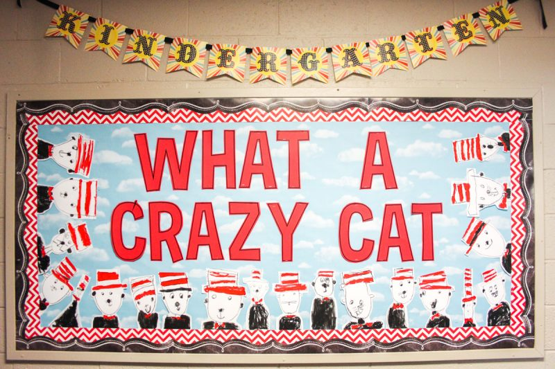 easy Cat in the Hat inspired art to celebrate reading month | kindergarten art project | painting for kids | Kinder Craze blog