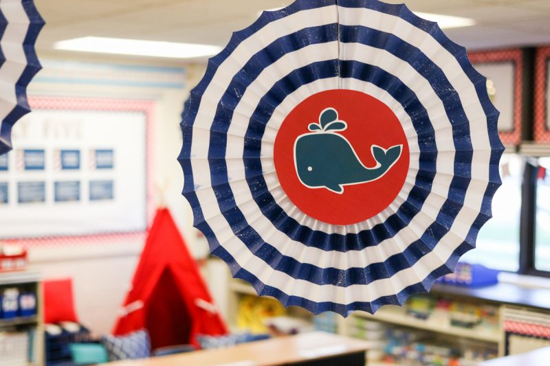 Second Grade Nautical Theme Classroom Makeover featuring printable decor from Schoolgirl Style | classroom design | classroom decor | Kinder Craze blog #backtoschool #classroom #classroomdecor