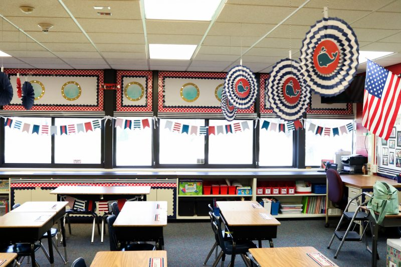 Love this gorgeous nautical theme second grade classroom from Kinder Craze. You have to see the complete makeover | Schoolgirl Style | Classroom Decor | Kinder Craze blog