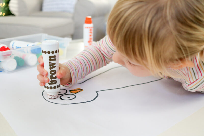 Fun and easy Thanksgiving turkey craft for preschoolers